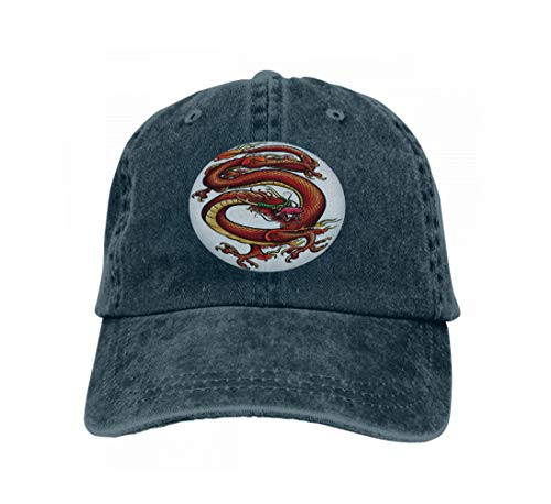Baseball Cap Adjustable Athletic Custom Trendy Hat for Men and Women Big red Dragon Modern (Dragon Lady Red Kostüm)
