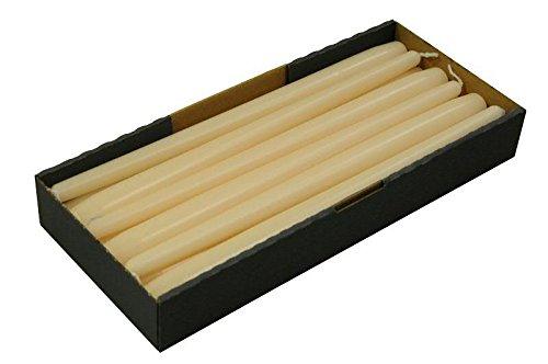 Schlanke & Stabile Spitzkerzen - Creme - Länge 30cm/Ø 2,3cm - 12 Stück im Pack - Hohe Brenndauer (10 Stunden) & Einwandfreies Brennverhalten - Altarkerzen/Leuchterkerzen