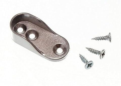 200 X Armoire rail de Rod End Socket soutien ovale support 15mm X 32mm Cp