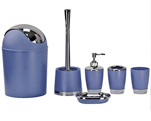 Fashion Boutique Badezimmer Set 6–Schwarz, Blau, Rosa, Grün und Violett blau