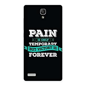Pain Victory Back Case Cover for Redmi Note Prime