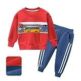 Eternali Kind Neugeborenes Baby Jungen Winter Kleidung Sport Trainingsanzug Outfits Zug Auto...