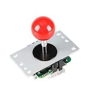 EG STARTS Arcade Klassische Wettbewerb 5 Pin Stick 4 – 8 Möglichkeiten Joystick Für Arcade DIY Kit Teile Video Spiel Mame Jamma Maschine Gaming Raspberry Pi Retropie Projekte (Rot)