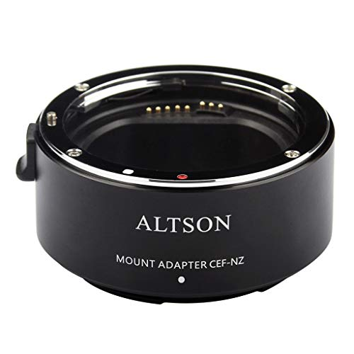 Detrade Kamera-Smart-Adapterring Für C-anon EF/EF-S-Objektive, Die an N-ikon Z-Schnittstelle Angeschlossen Sind (Black)