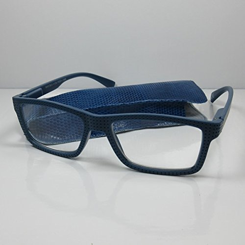 Moderne Designer Lesebrille Lesehilfe Damen & Herren Flexbügel Sehhilfe blau +3,0