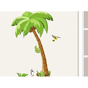 """Wandtattoo""""Palme Little"""" Wandaufkleber für Kinderzimmer Kinder Babyzimmer Dschungel Afrika"""