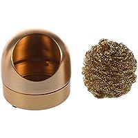 REFURBISHHOUSE Limpiador de punta de soldadura Esponja de metal de hierro Color oro Nuevo