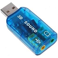 SODIAL(TM) USB 5.1 Adaptador de Tarjata de Sonido Est¨¦reo ¨C Compatible con Windows 7
