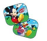 Disney Mickey Mouse: 2 x Auto Sonnenschutz/Vorhänge / Seitenscheibe/Sonnenblende inklusive UV Schutz für Baby und Kind