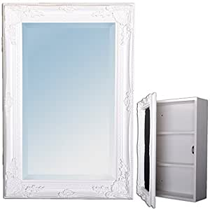 spiegelschrank badezimmer schrank wei barock badschrank landhaus beatrice 60cm. Black Bedroom Furniture Sets. Home Design Ideas