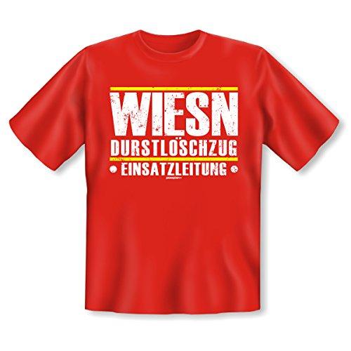 aktuelles und wichtiges T-Shirt von Goodman Design® Farbe: rot: WIESN DURSTLÖSCHZUG EINSATZLEITUNG Rot