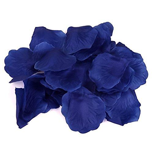 Venkaite 100 pcs petali di rosa seta per festa di nozze pacchetto,blu