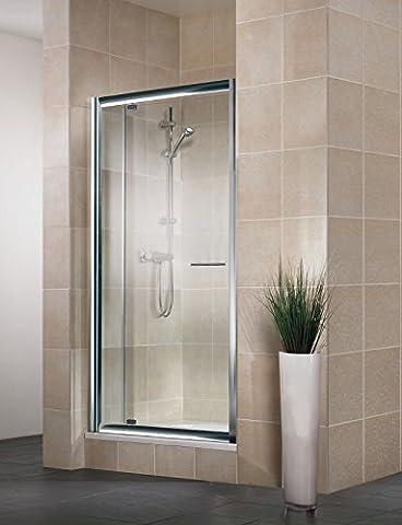 Douche 80 X 90 - Porte pivotante de douche extensible, 80-90 cm,