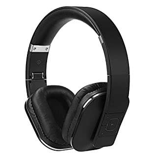 August Over Ear Bluetooth Wireless Headphones - EP650 with Android/iOS App for Custom Sound Control - Enjoy Bass Rich Sound and Optimum Comfort - Bluetooth v4.2, NFC and aptX LL Low Latency - [Black]