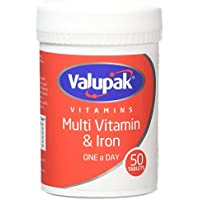 Valupak Multivitamin Plus Iron 50 Tablets
