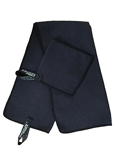 Kinhwa Ensemble serviette de golf en microfibre avec sangle...