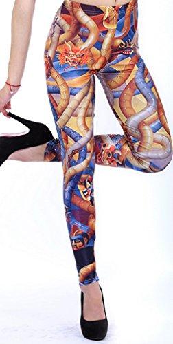 Belsen Femme Deadpool série Leggings élasticité crayon Pantalon Animal attitudes