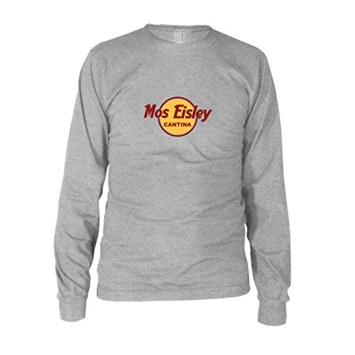 Mos Eisley Cantina - Herren Langarm T-Shirt Grau Meliert