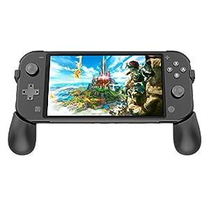 Fyoung Klappbare Griffe für Nintendo Switch Lite 2019, Tragbarer Griff mit Ständer und 2 Steckplätzen für Switch Lite