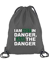 Camiseta street24, I AM NOT en danger, Turn Bolsa Mochila Bolsa de deporte gris