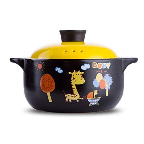 Zldgyg confezione regalo resistente al calore in ceramica con piatto tondo in ceramica casseruola/vaso di terracotta/vaso di terracotta/pentole in ceramica (size : 1500ml)