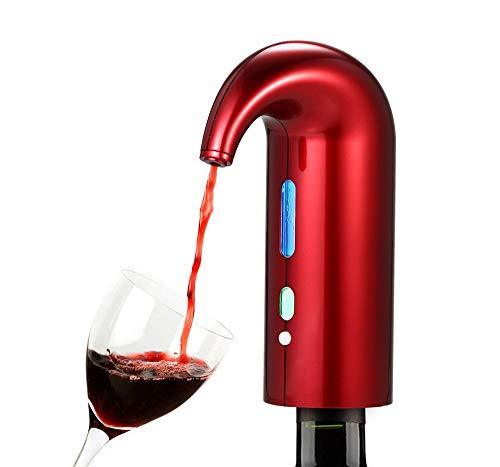 Aérateur de vin Décanteur, Distributeur de vin Rouge et Blanc Triple décanteur électronique Intelligent à Commande instantanée, Chargement par USB