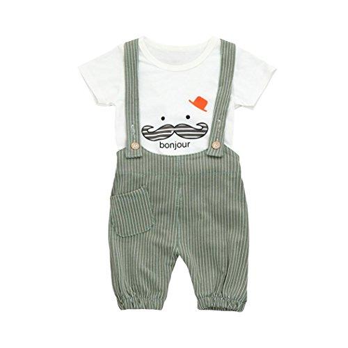 Camisa bebé Niño K-youth® Petos Niños Ropa Recién Nacidos Bebe Niño Ropa...