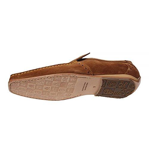 Chaussures De Daim Jeffery West Mocassins Mens Tan