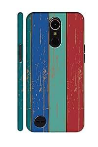 AMAN Vintage Colour Wood 3D Back Cover for LG K10 2017