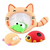 STOBOK Baby-Badspielwaren Bad Squirters der Katze 4pcs / Set mit Katze Dredge
