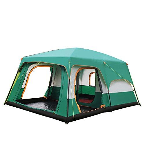 Field tent xn tenda automatica per esterni a prova di pioggia doppia camera da letto 2-10 persone doppia tenda da campeggio per famiglie (dimensioni : b)