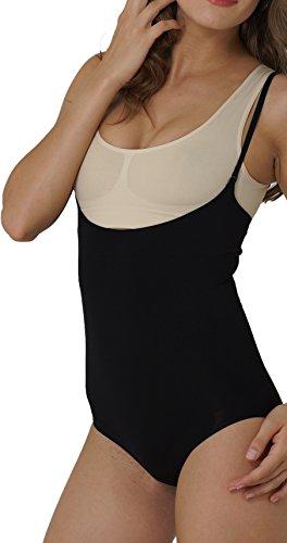 UnsichtBra Body super modellante, scollato e sgambato per donna Nero