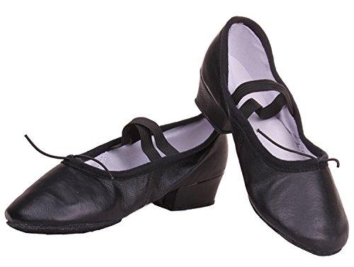 Wuyulunbi @ Chaussures Praticiens De Danse De Bal Avec Des Chaussures De Fond Mou Noir