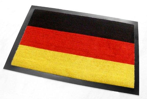 Schmutzfangmatte, Fußabstreifer, Fußmatte, Fan-Matte 'Deutschland', Fahne / Flagge -...