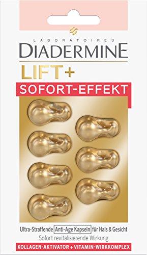 Diadermine Anti-Age Kapseln für Hals & Gesicht Lift+ Sofort-Effekt, 3er Pack (3 x 7 Kapseln) -