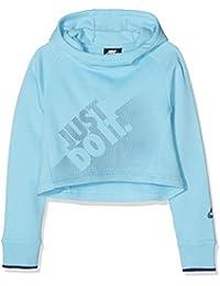 Nike G NSW Hoodie Crop PE GX Sudadera, Niñas, Azul Chill/Blue Void, S