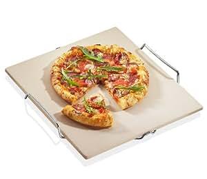 Küchenprofi 1086000000 Pizzastein mit Untersatz 38 x 35 cm / 5 x 1 cm