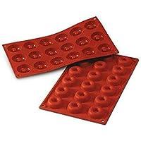 SF010 Molde de silicona, 18 cavidades con forma de Savarin mini, color terracota