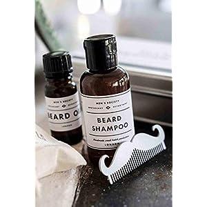 Hochwetiges Bartpflege Set – Men's Society Beard Washing Kit – bestehend aus Bartshampoo, Bartöl und Kamm