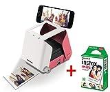 kiipix tm3362Kit Impresora fotográfica para Smartphone con Protector de Pantalla de Fujifilm instax Mini, 10Fotos, Rosa