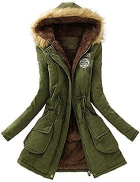 OverDose Las mujeres calientan la capa larga del abrigo de la piel de la chaqueta con capucha El abrigo de invierno...