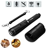 FLOUREON Détecteur de Métaux Portable, Metal Detector GP-Pointer Pin Pointer Probe Waterproof Handheld Pinpointer with Holster Treasure Hunting Unearthing Tool - Black