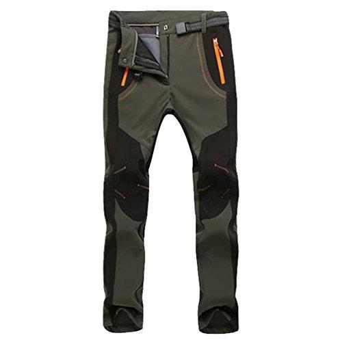 YiLianDa Pantaloni Funzionali Softshell Invernali da Uomo Slim Fit Impermeabili e Traspiranti per Trekking e Sport allaperto