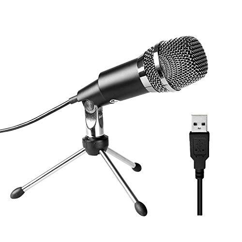 Kondensator, PC Laptop Podcast Microfone mit Ständer, Computer Aufnahmemikrofon für Spiele und Aufnahmen Studio Microphone für Skype, Facebook, YouTube, etc.- K668 ()