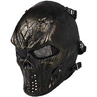 ZX Máscara de Terror Bronce Field CS Máscara Antibalas Máscara de Montar Al Aire Libre,