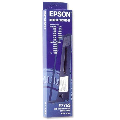 Original Farbbänder passend für Epson LQ 300 Plus Epson 7753 15021 , C13S015021 , S015021 - Premium Nylonband - Schwarz - Epson Fx-serie