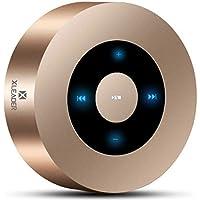 [Diseño LED Tacto] Altavoz Bluetooth, XLeader Altavoces Bluetooth Portátiles con Sonido HD/ 12 Horas de reproducción/Bluetooth 4.1/ Soporte Micro SD, para iPhone/iPad/ Tableta/Echo (Oro)