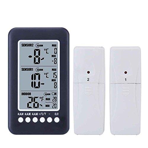 Topker Drahtlose Innen Außen-Thermometer mit 2 Remote Sensor Digital-Max / Min Wert Temperaturmessung Meter Elektronischen Tester -