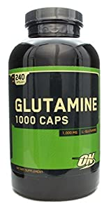 Optimum Nutrition Glutamine 1000 Muscle Recovery Capsules, 240 Capsules from OPTIG