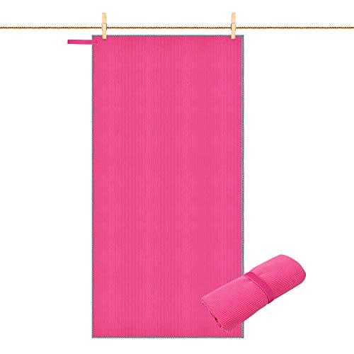 Kuyou Mikrofaser Handtücher XXL saugfähig leicht schnelltrocknend Badehandtücher Reisehandtücher Sporthandtücher Fitness Strandtuch, Ideal für Reisen, Fitness, Yoga, Sauna -